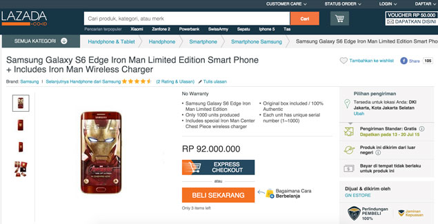 s6 edge iron man lazada indonesia