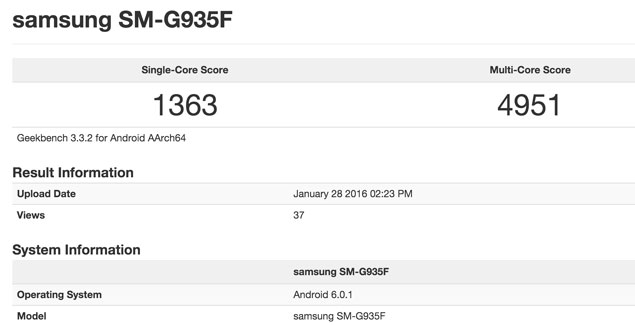 samsung galaxy s7 edge geekbench